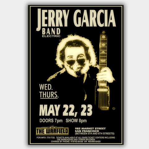 Jerry Garcia (1991) - Concert Poster - 13 x 19 inches