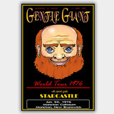 Gentle Giant with Starcastle (1976) - Concert Poster - 13 x 19 inches