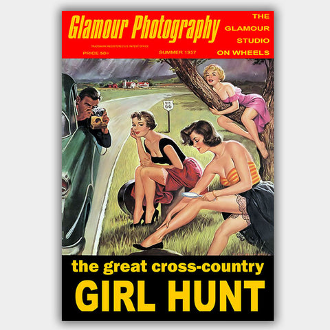 Glamour Photography - Girl Hunt (1957) - Poster - 13 x 19 inches