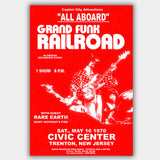 Grand Funk with Rare Earth (1970) - Concert Poster - 13 x 19 inches