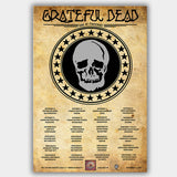Grateful Dead (1970) - Concert Poster - 13 x 19 inches