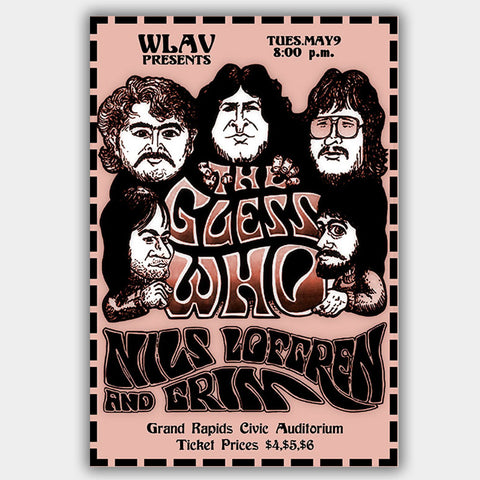 Guess Who with Grim (1970) - Concert Poster - 13 x 19 inches