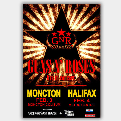 Guns N' Roses with Sebastian Bach (2010) - Concert Poster - 13 x 19 inches