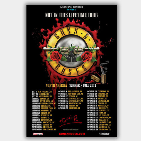 Guns N' Roses (2017) - Concert Poster - 13 x 19 inches