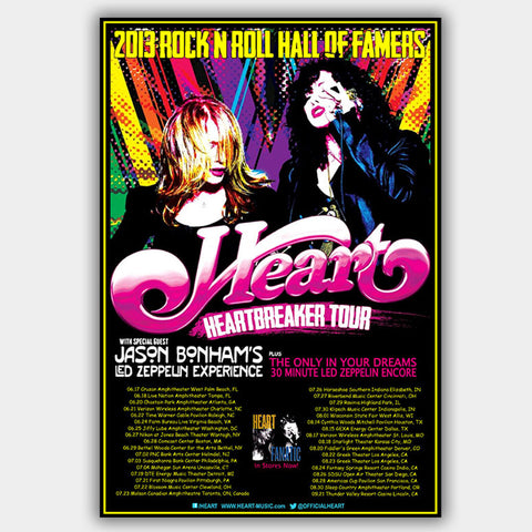 Heart with Jason Bonham'S Led Zeppelin Experience (2013) - Concert Poster - 13 x 19 inches
