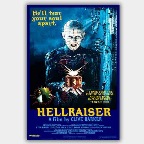 Hellraiser (1987) - Movie Poster - 13 x 19 inches