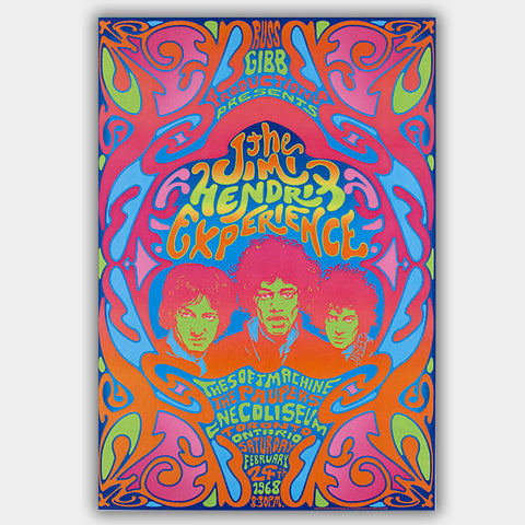 Jimi Hendrix with The Paupers (1968) - Concert Poster - 13 x 19 inches