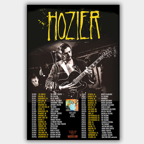Hozier (2015) - Concert Poster - 13 x 19 inches