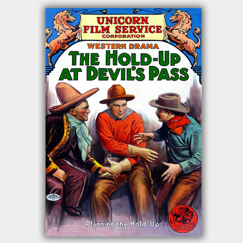 Hold-Up At Devil'S Pass (1912) - Movie Poster - 13 x 19 inches