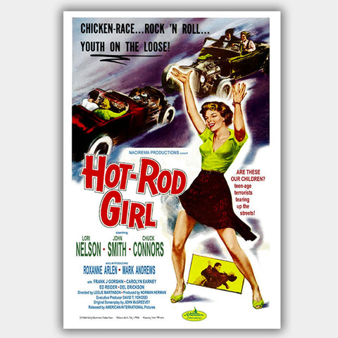 Hot-Rod Girl (1956) - Movie Poster - 13 x 19 inches