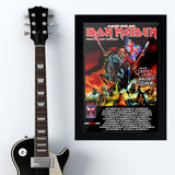 Iron Maiden with Alice Cooper & Coheed (2012) - Concert Poster - 13 x 19 inches