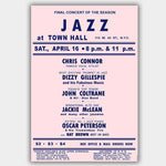 Jazz At Town Hall (1960) - Concert Poster - 13 x 19 inches
