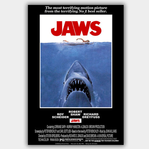 Jaws (1975) - Movie Poster - 13 x 19 inches