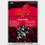 Kiss with Cheap Trick (1977) - Concert Poster - 13 x 19 inches