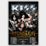 Kiss  (2013) - Concert Poster - 13 x 19 inches