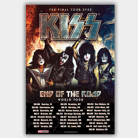 Kiss (2019) - Concert Poster - 13 x 19 inches