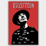 Led Zeppelin with Last Concert (1980) - Concert Poster - 13 x 19 inches