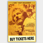 Gordon Lightfoot (1975) - Concert Poster - 13 x 19 inches
