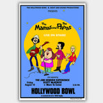 Mamas & Papas with Jimi Hendrix (1969) - Concert Poster - 13 x 19 inches