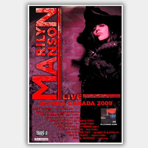 Marilyn Manson (2009) - Concert Poster - 13 x 19 inches