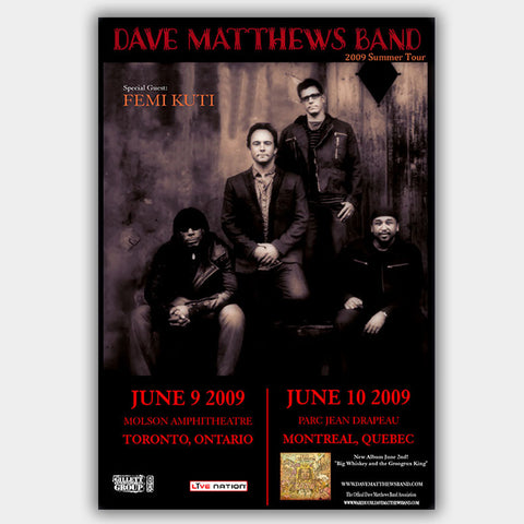 Dave Matthews Band with Femi Kuti (2009) - Concert Poster - 13 x 19 inches