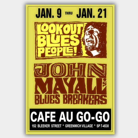 John Mayall (1968) - Concert Poster - 13 x 19 inches