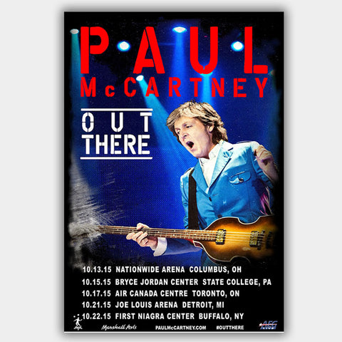 Paul Mccartney with Fall Tour (2015) - Concert Poster - 13 x 19 inches
