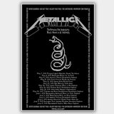 Metallica (2012) - Concert Poster - 13 x 19 inches