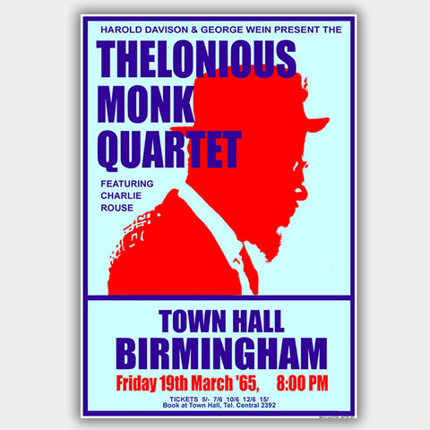 Thelonious Monk (1965) - Concert Poster - 13 x 19 inches