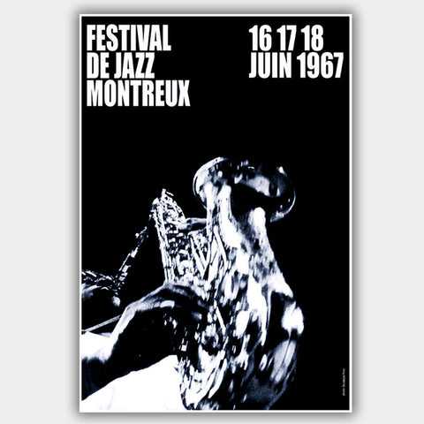 Montreux Jazz Festival (1967) - Concert Poster - 13 x 19 inches