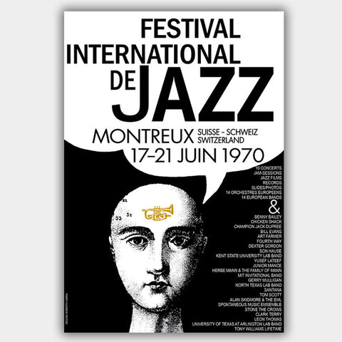 Montreux Jazz Festival (1970) - Concert Poster - 13 x 19 inches