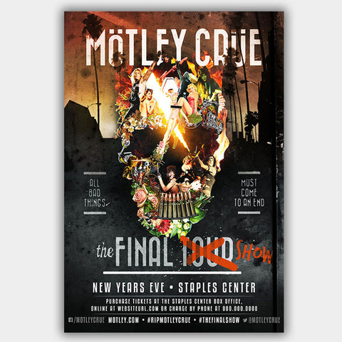 Motley Crue with Final Show (2016) - Concert Poster - 13 x 19 inches