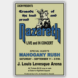Nazareth with Mahogany Rush (1976) - Concert Poster - 13 x 19 inches