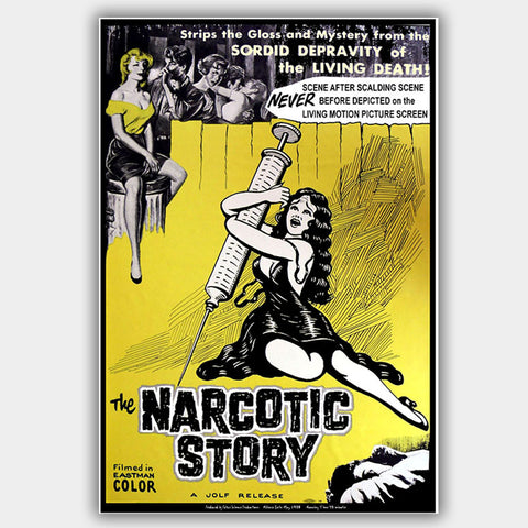 Narcotic Story (1958) - Movie Poster - 13 x 19 inches