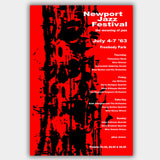 Newport Jazz Festival with Nina Simone (1963) - Concert Poster - 13 x 19 inches