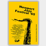 Newport Jazz Festival with Sinatra & Davis (1965) - Concert Poster - 13 x 19 inches
