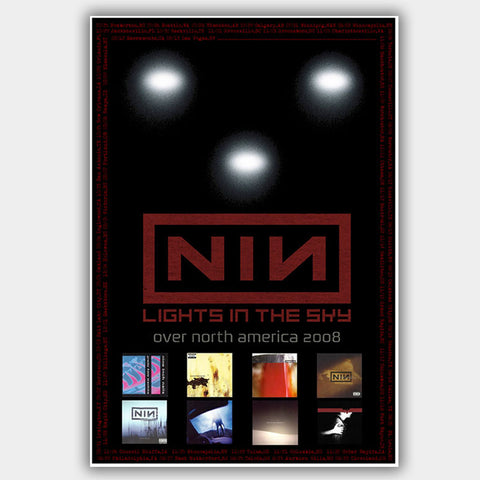 Nine Inch Nails (2008) - Concert Poster - 13 x 19 inches
