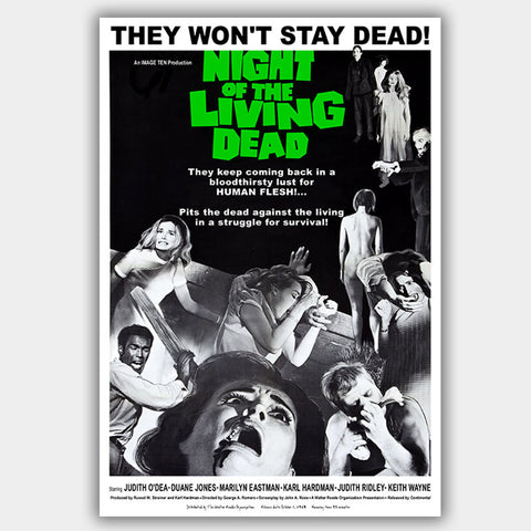 Night Of The Living Dead (1968) - Movie Poster - 13 x 19 inches