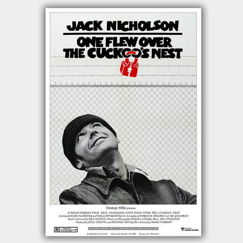 One Flew Over The Cuckoo'S Nest (1975) - Movie Poster - 13 x 19 inches