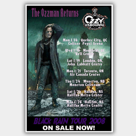 Ozzy Osbourne (2008) - Concert Poster - 13 x 19 inches