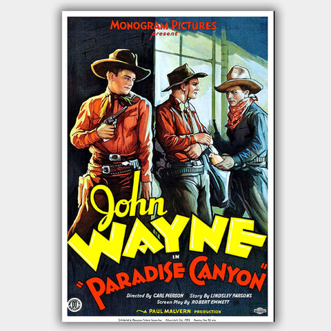 Paradise Canyon (1935) - Movie Poster - 13 x 19 inches