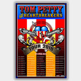 Tom Petty (2010) - Concert Poster - 13 x 19 inches