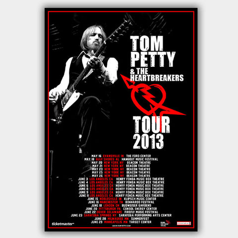 Tom Petty (2013) - Concert Poster - 13 x 19 inches