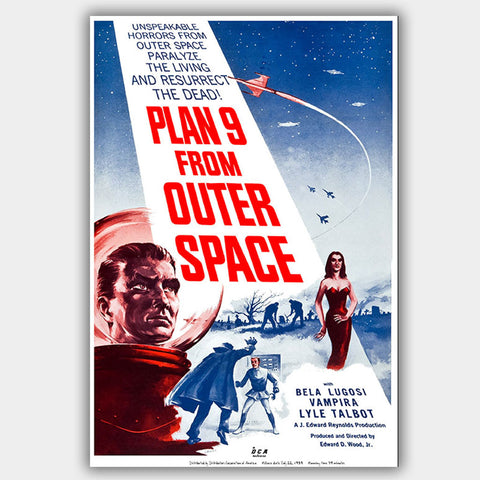 Plan 9 From Outer Space (1959) - Movie Poster - 13 x 19 inches