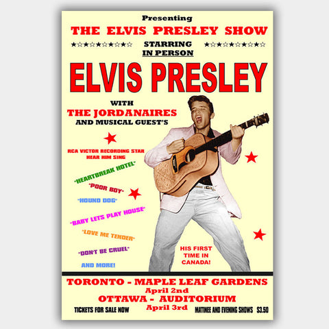 Elvis Presley with The Jordanaires (1957) - Concert Poster - 13 x 19 inches