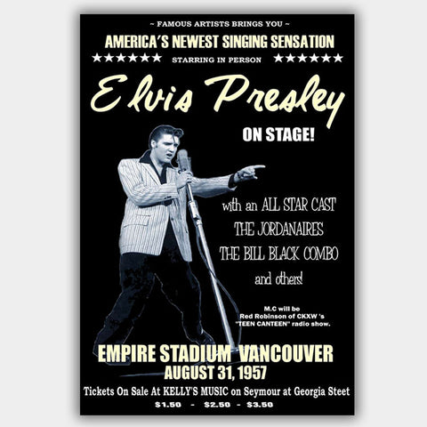 Elvis Presley (1957) - Concert Poster - 13 x 19 inches