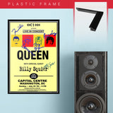 Queen with Billy Squier (1982) - Concert Poster - 13 x 19 inches