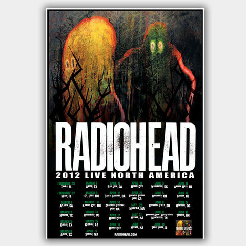 Radiohead (2012) - Concert Poster - 13 x 19 inches