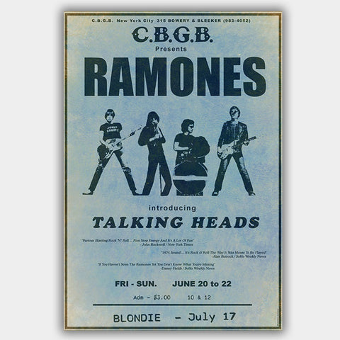 The Ramones with Cbgb'S (1975) - Concert Poster - 13 x 19 inches