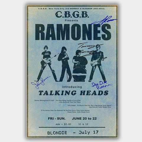 The Ramones (1975) - Concert Poster - 13 x 19 inches